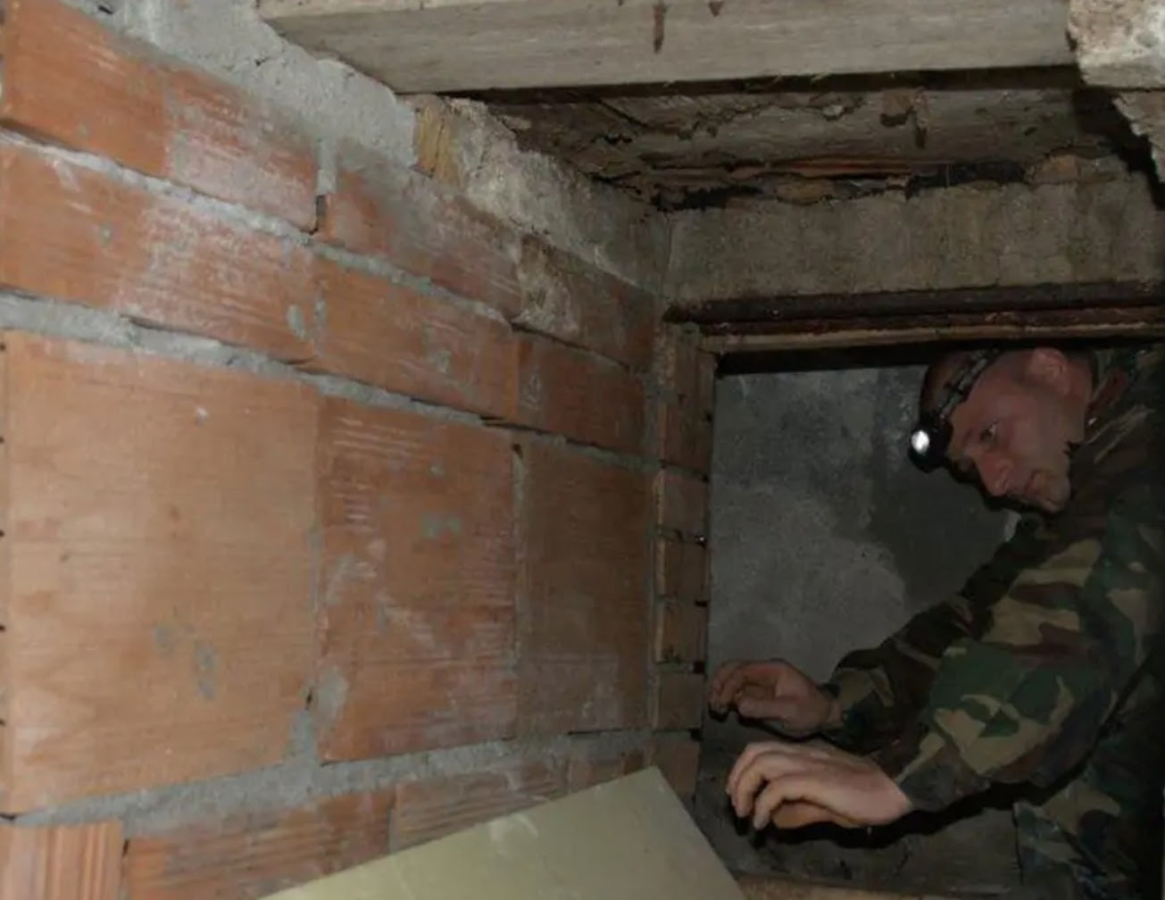 Authorities found a complex of tunnels under the town of Plati, Italy