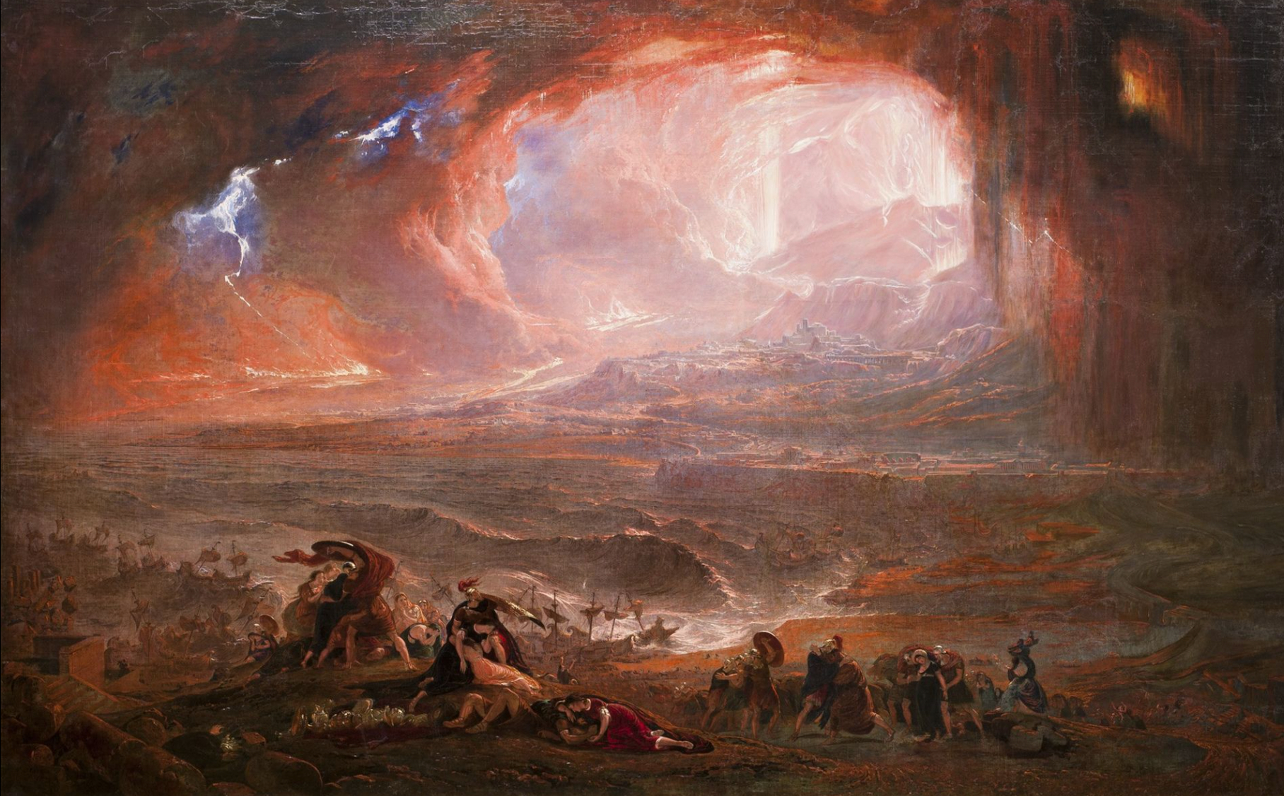 The restored version of John Martin's Destruction of Pompeii and Herculaneum