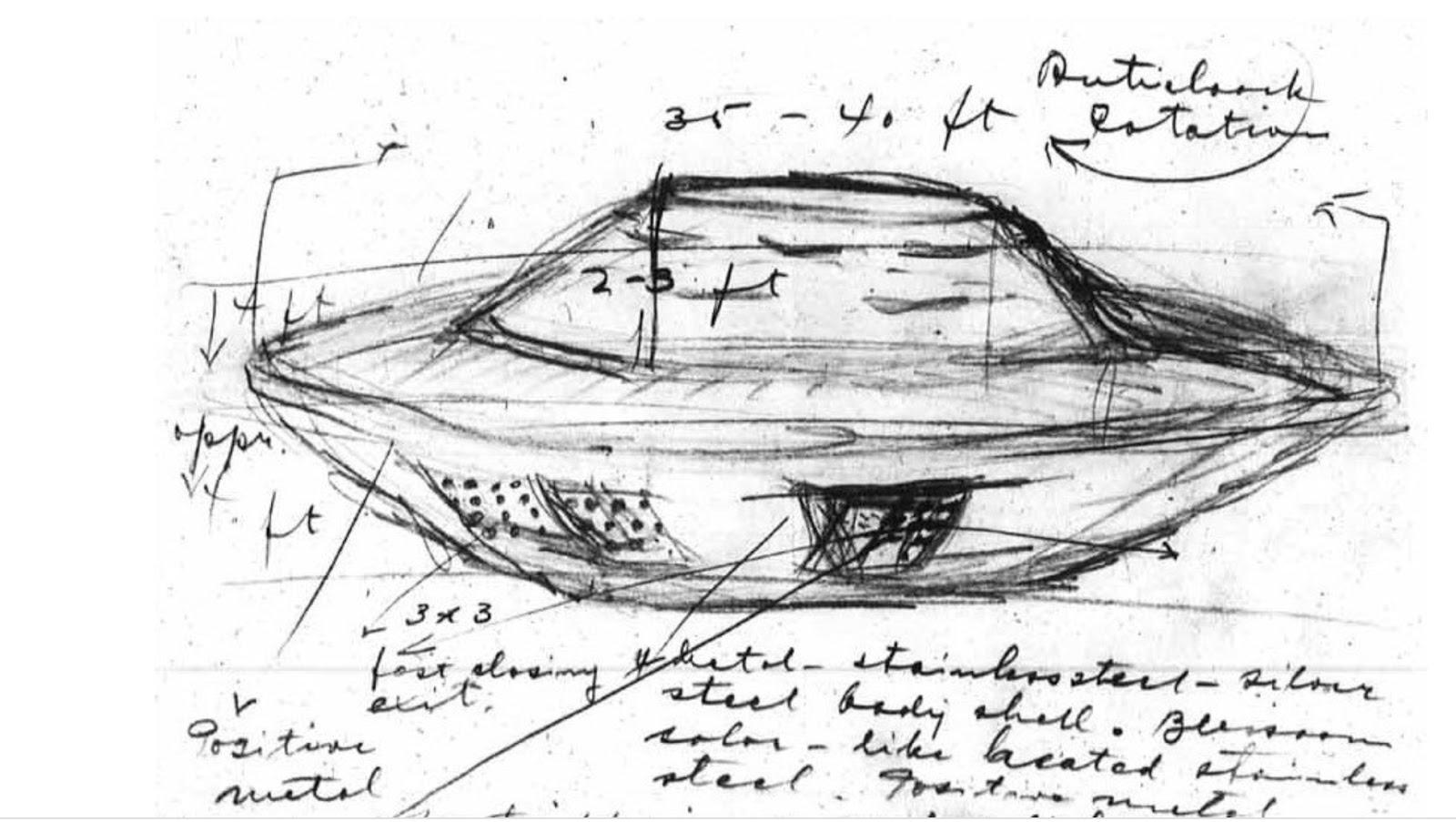 Canadian 'spaceship' drawing from Manitoba landing