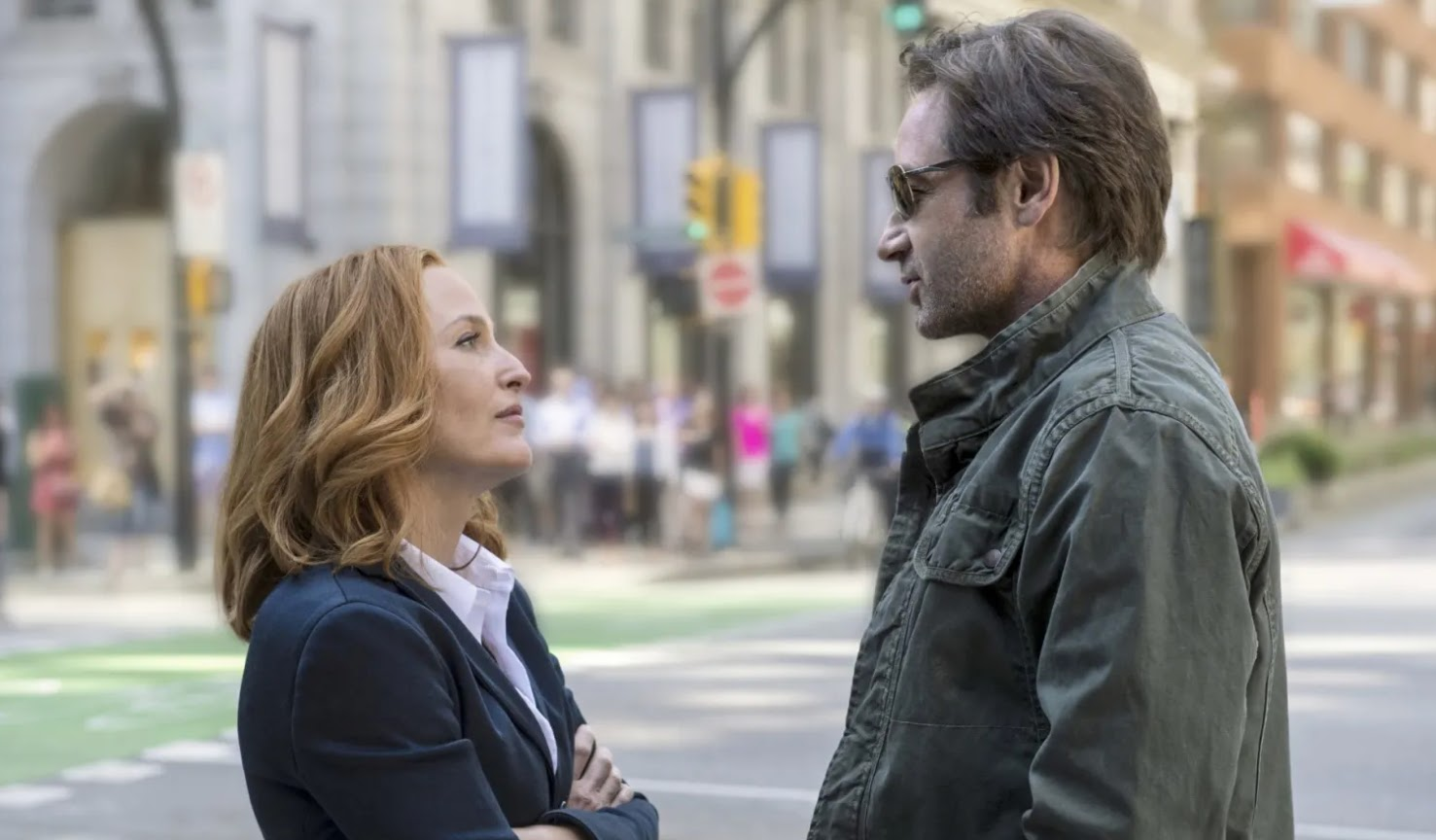 Mulder and Scully on the X-Files