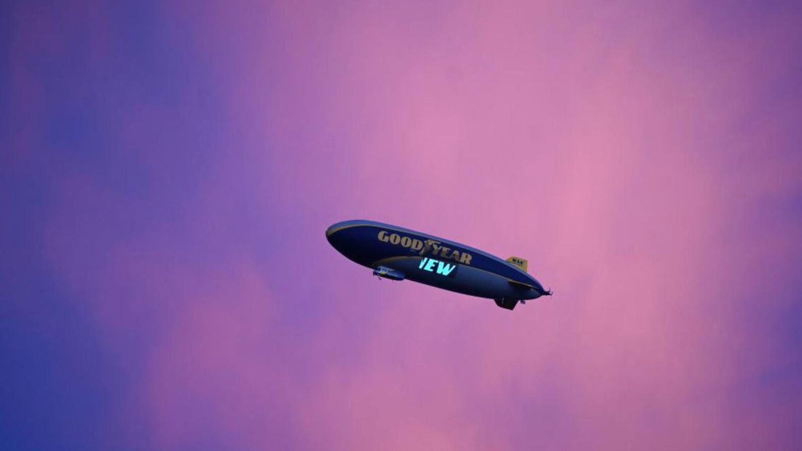 Goodyear blimp mistaken for alien spacecraft