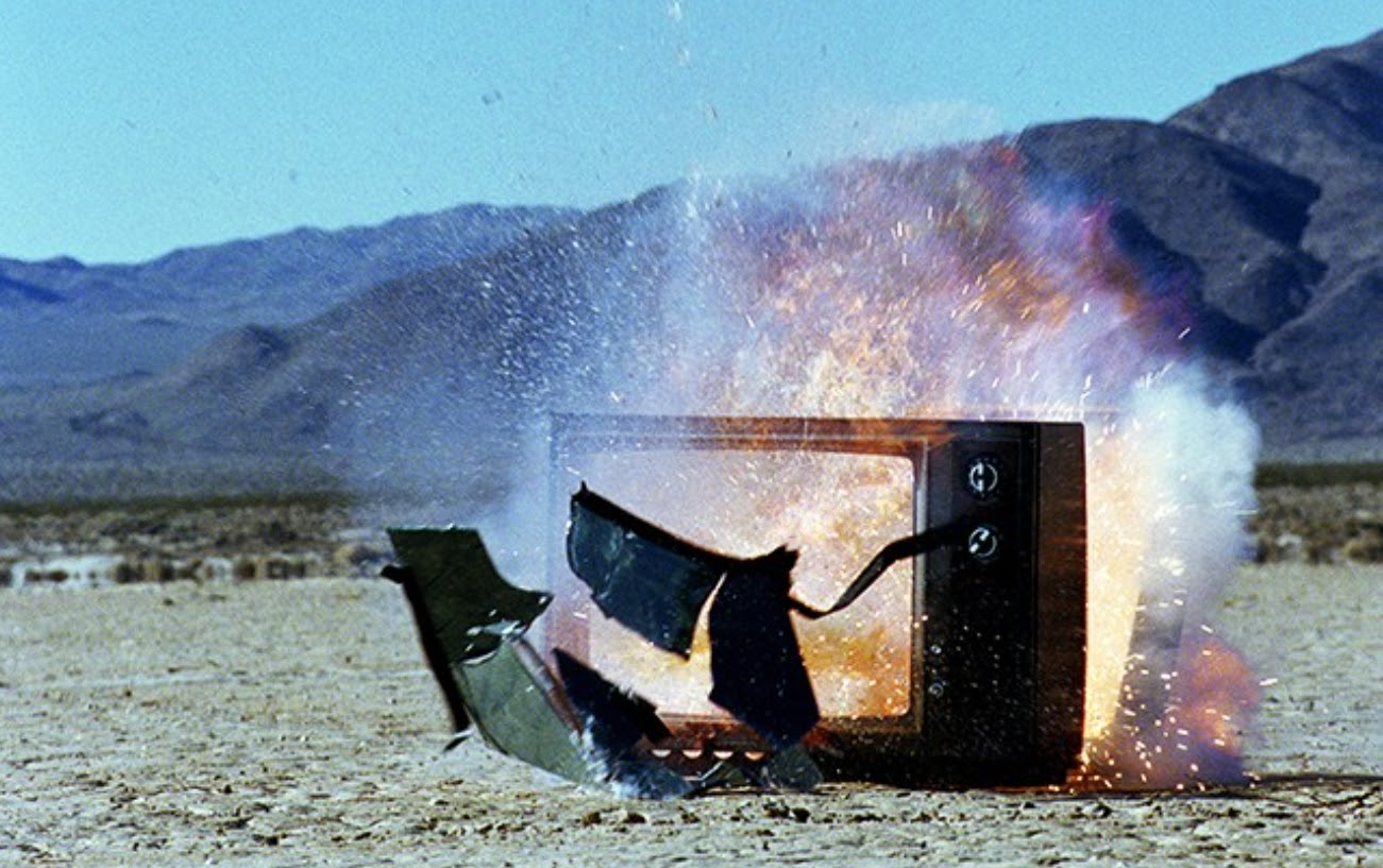 Exploding television