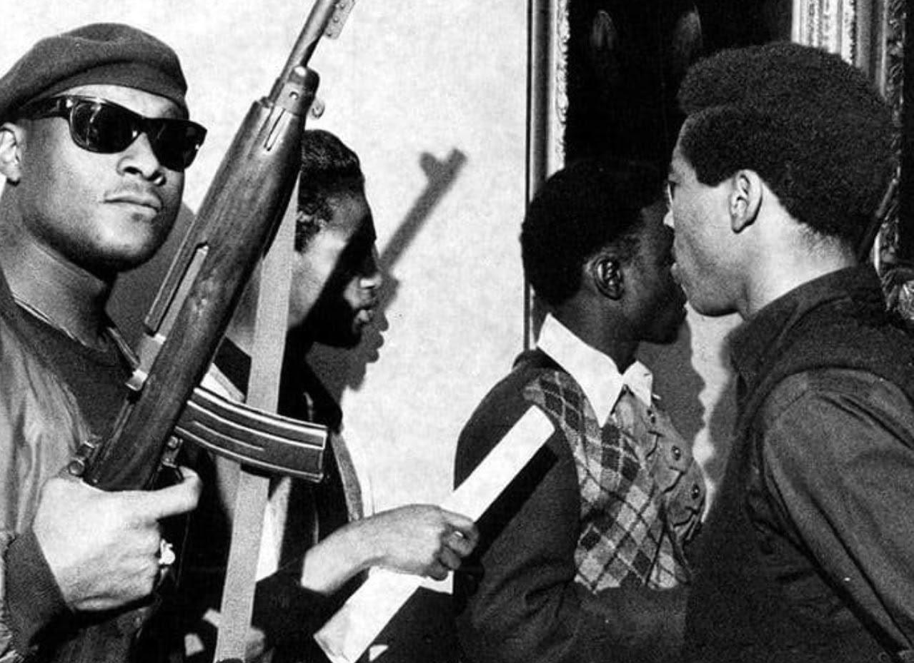 Black Panthers with shotguns