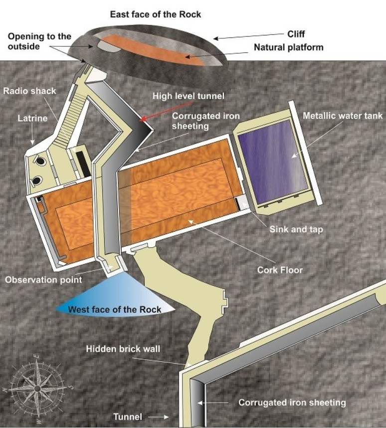 Graphic of the Stay Behind Cave