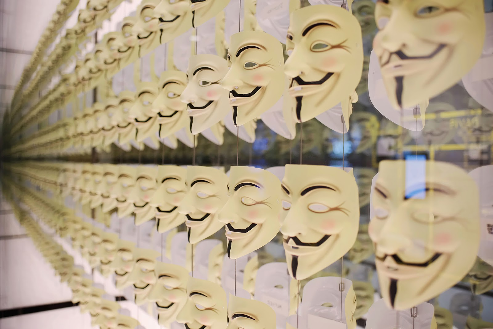Anonymous hacker group masks