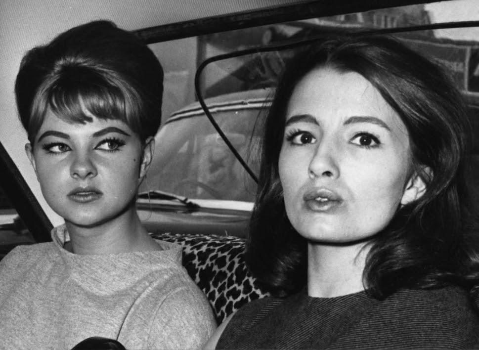Christine Keeler (right)