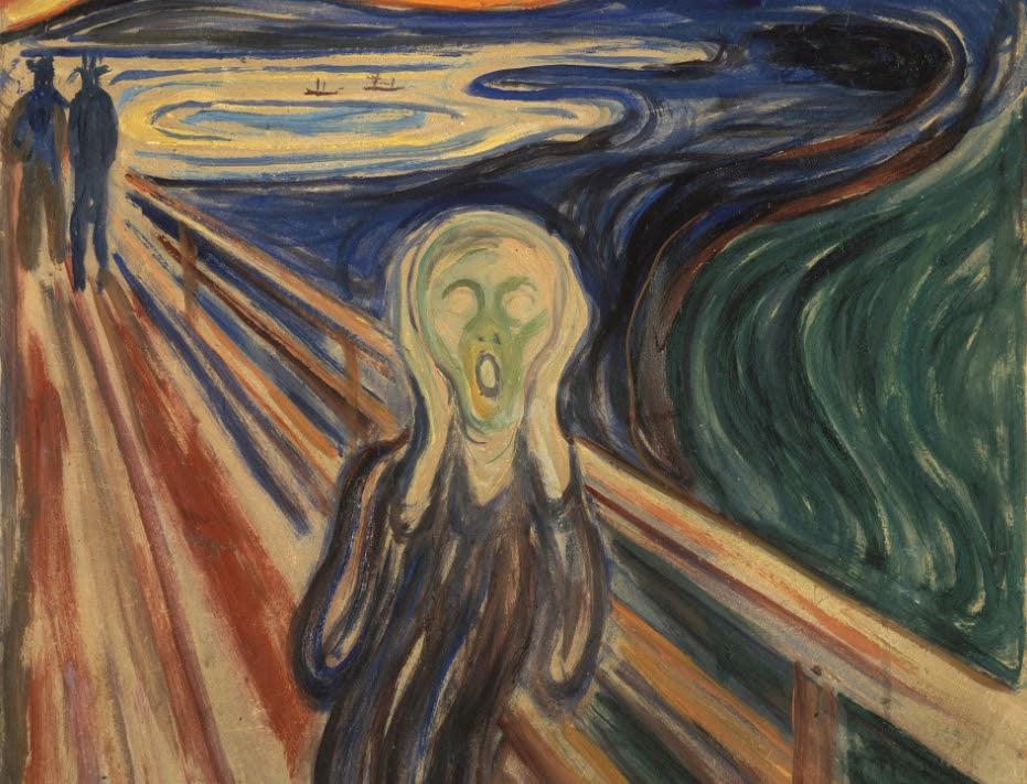 The Scream painting, 1910