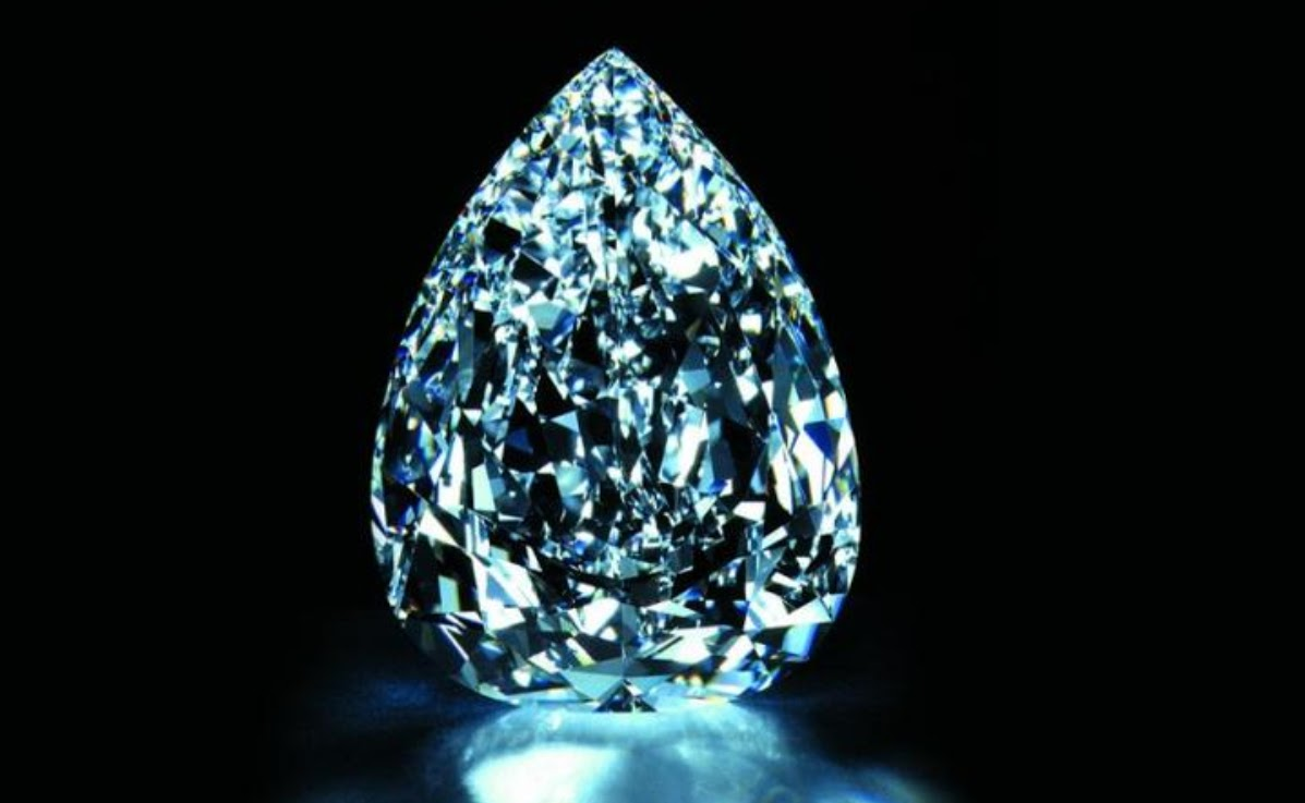 The 203-carat Millennium Star diamond, part of the $500m Millennium Dome display