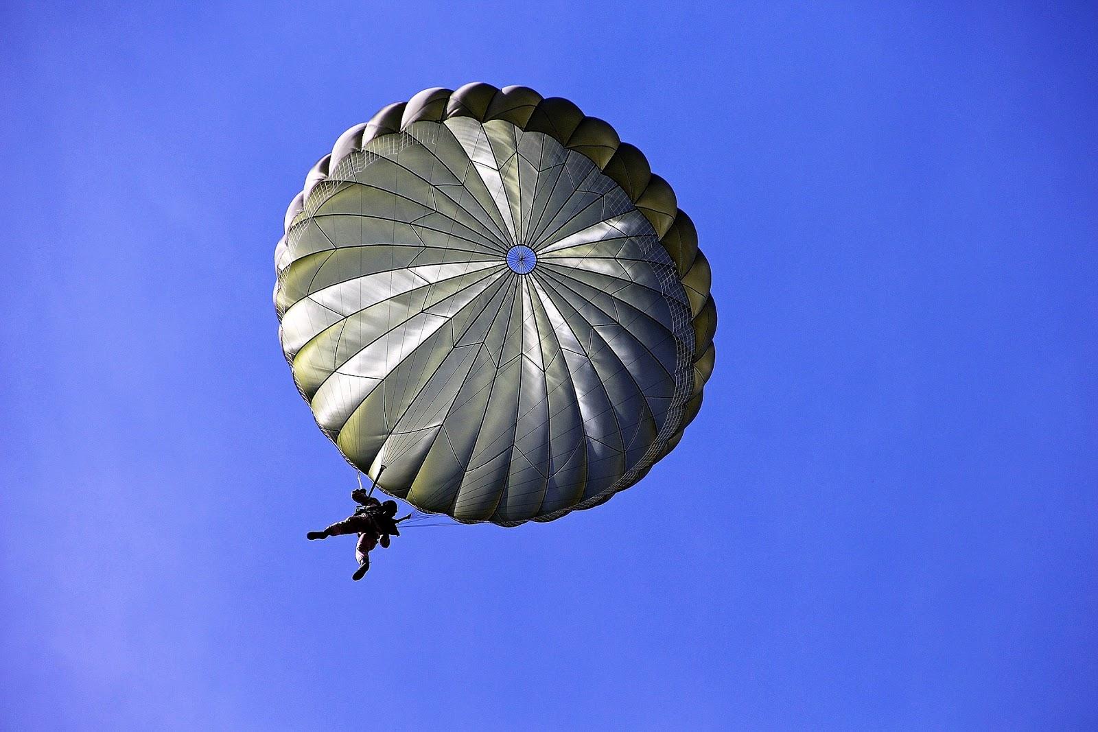 Parachuting away with the money