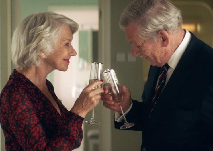 Roy (Ian McKellen) targets Betty (Helen Mirren) in The Good Liar