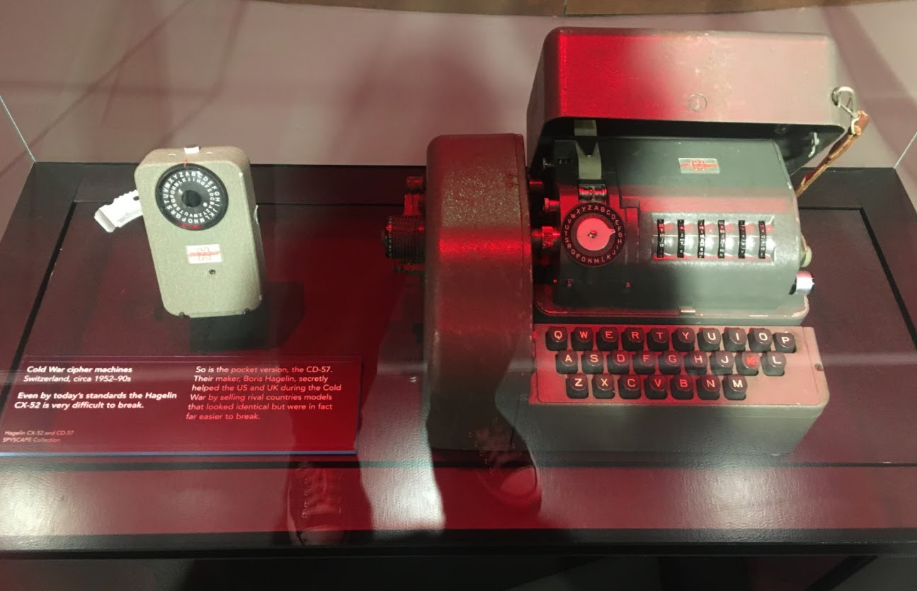 SPYSCAPE New York HQ's Hagelin CX-52 (right) would be difficult to break even today