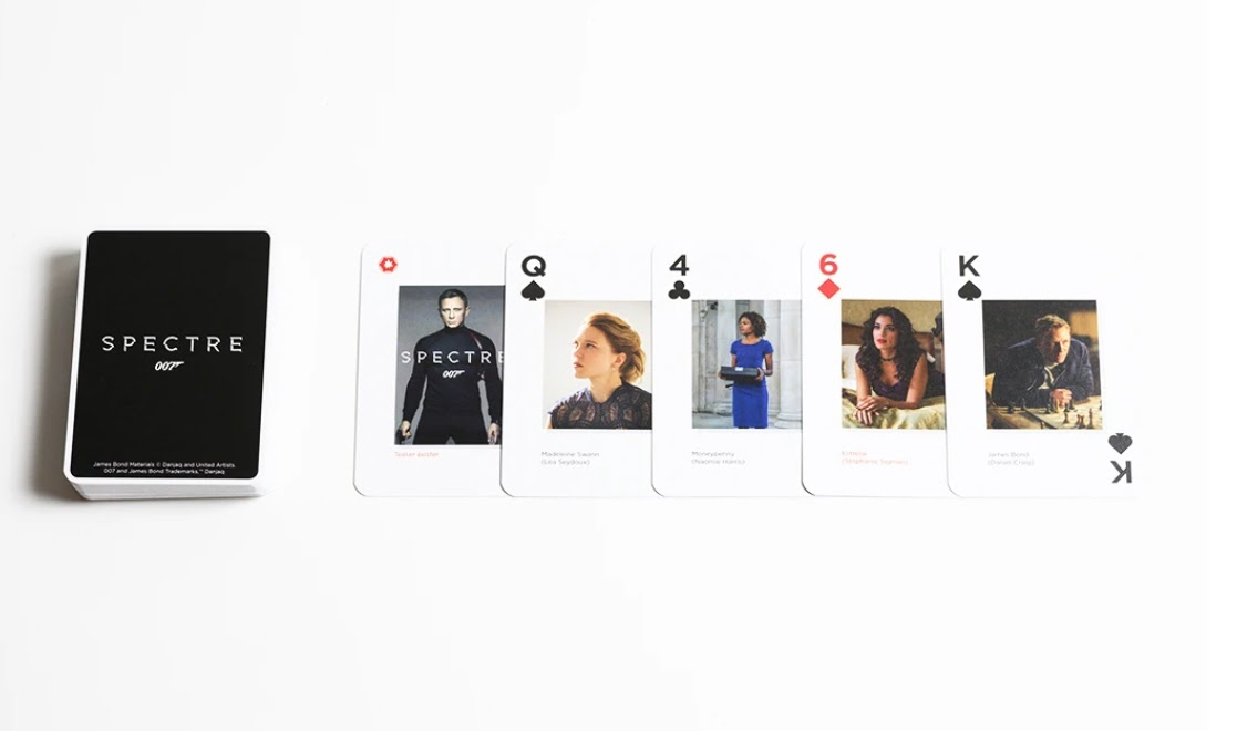 Spectre Bond playing cards