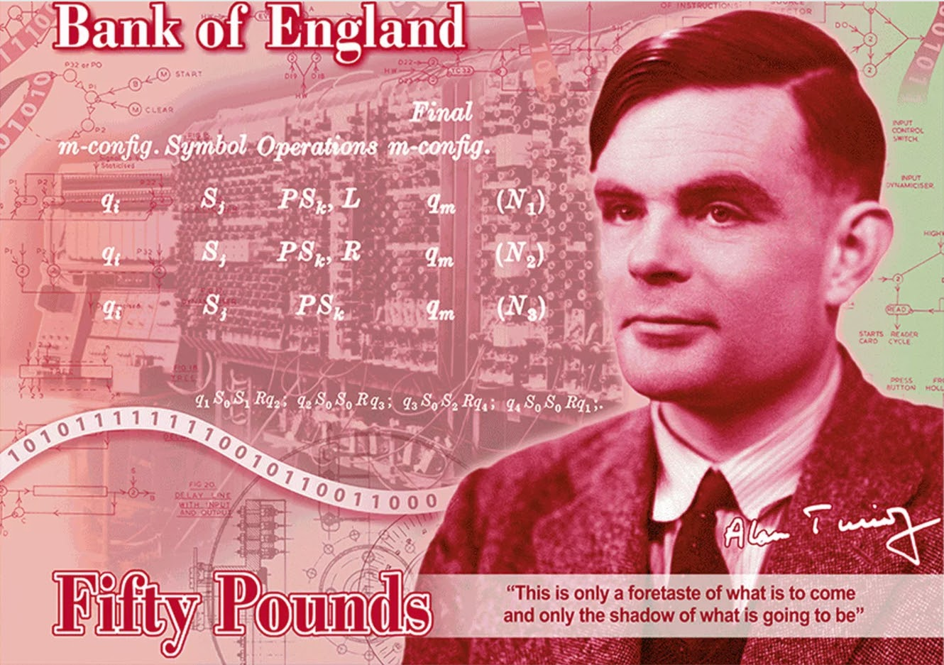 Alan Turing and the £50 note