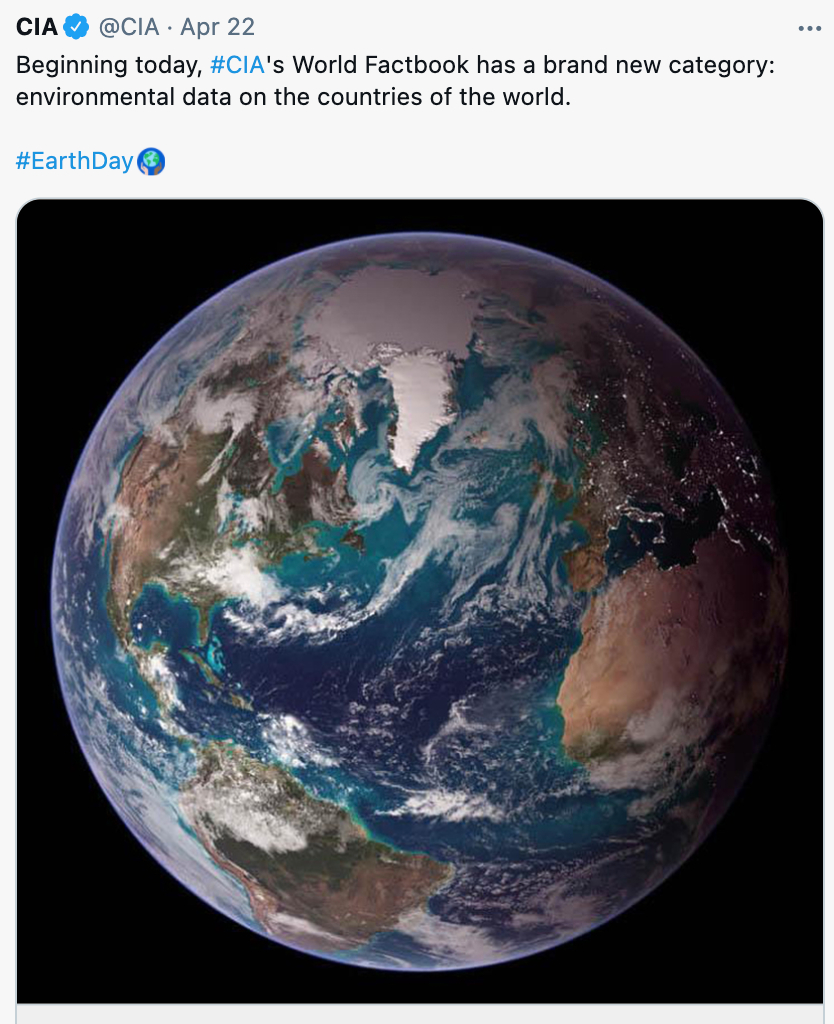 CIA World Factbook tweet