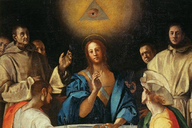 Pontormo's Supper at Emmaus (1525) uses the Eye of Providence