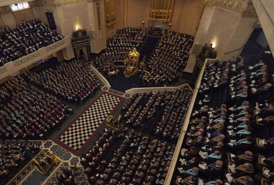 Freemasonry incorporates lambskins in rituals and ceremonies