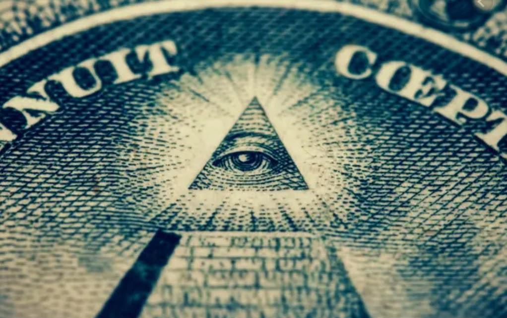 The Illuminati symbol of the all-seeing eye