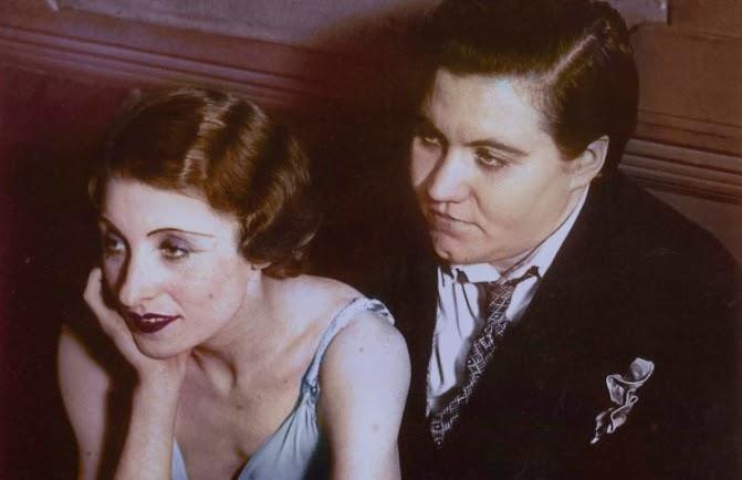 Violette Morris (right) at Le Monocle night club, Paris 1932
