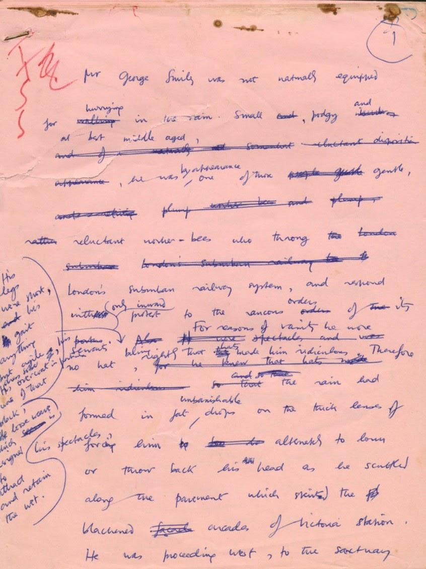 le Carre manuscript for Tinker Tailor Soldier Spy