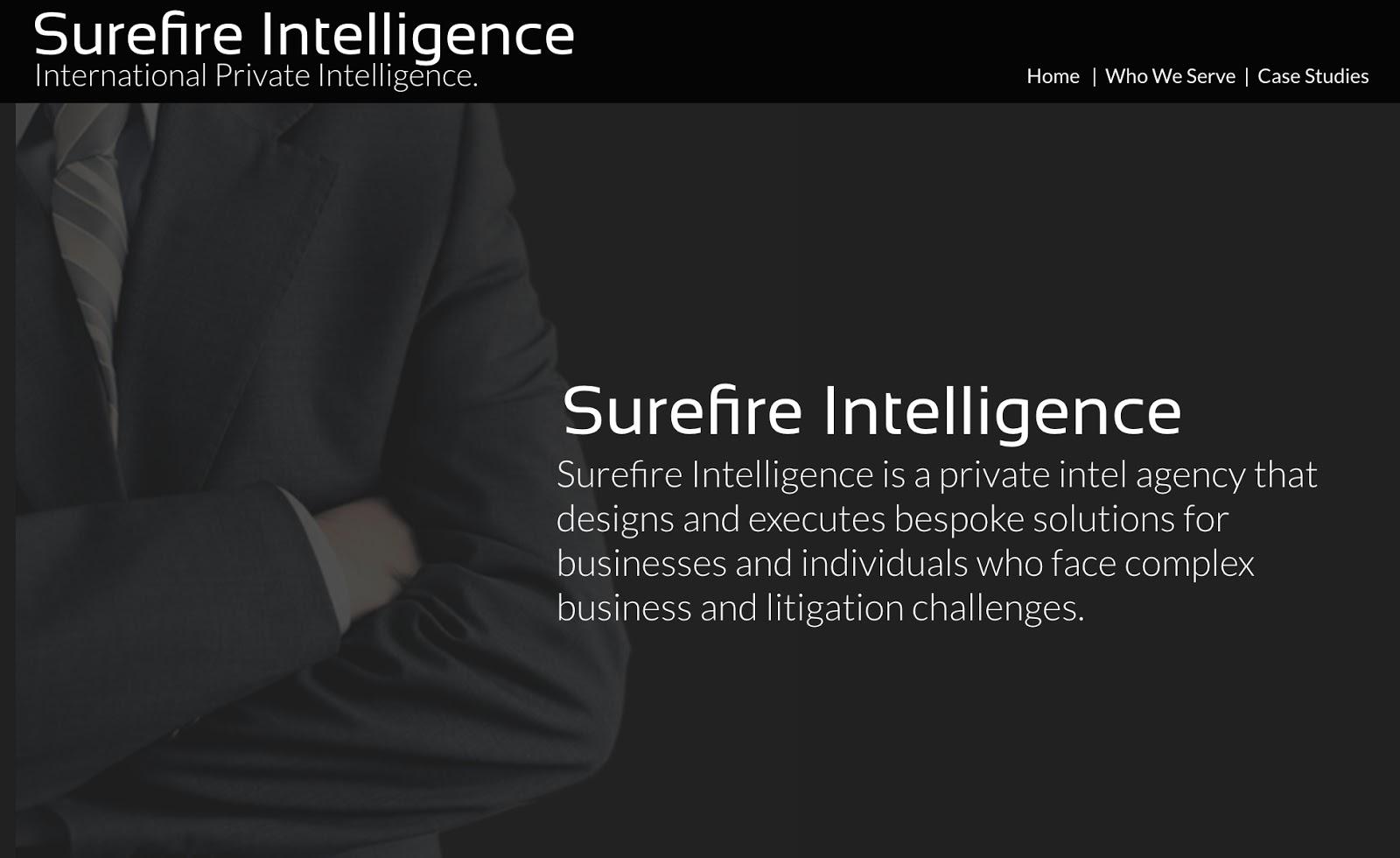 Surefire Intelligence website