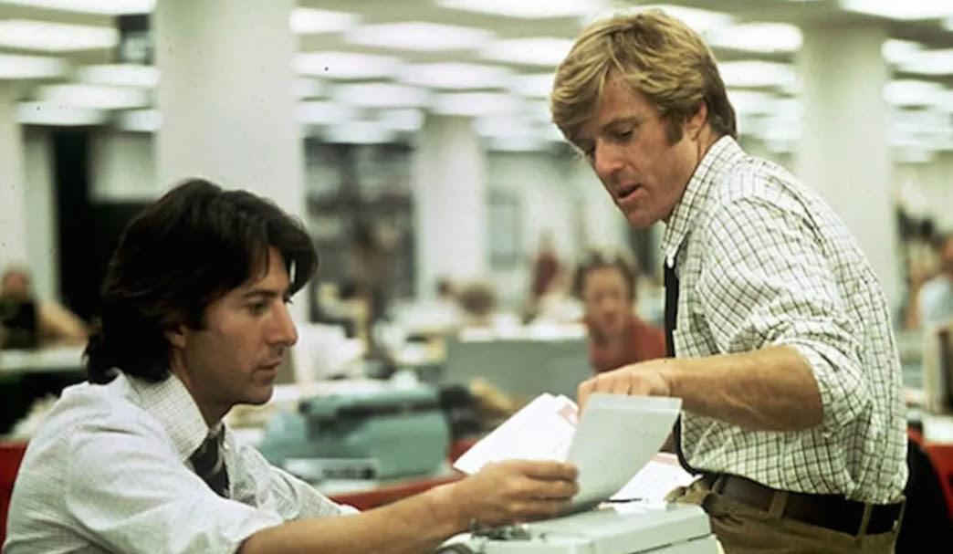 Robert Redford and Dustin Hoffman, All the President's Men
