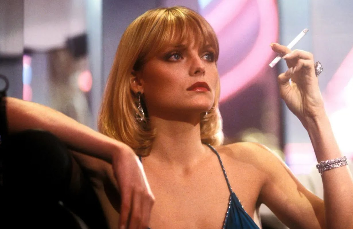 Al Pacino and Michelle Pfeiffer star in Scarface