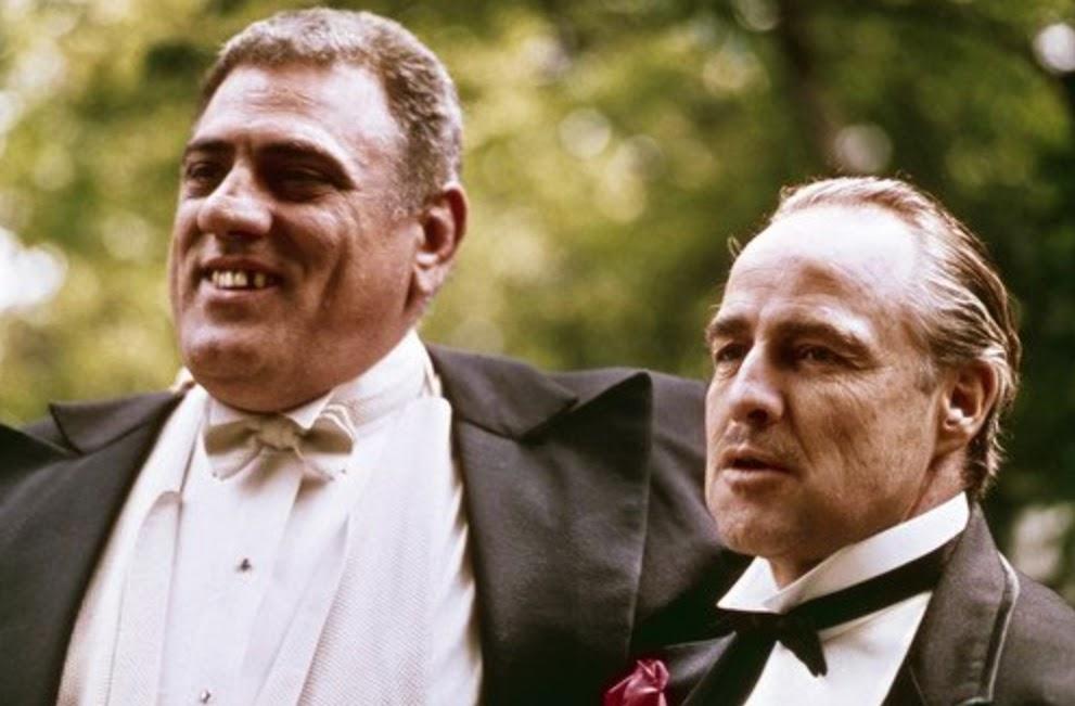 Lenny Montana with Marlon Brando in The Godfather (1972)
