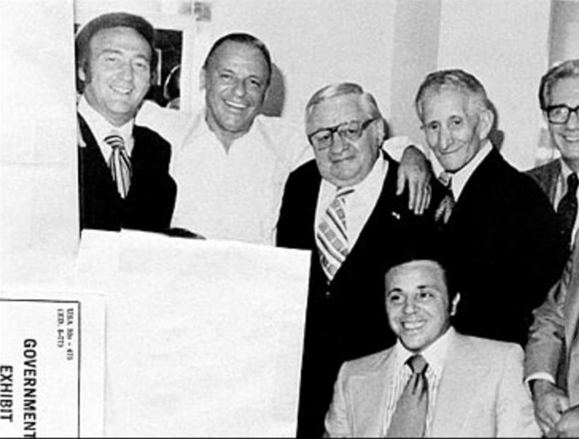 Frank Sinatra with mob friends