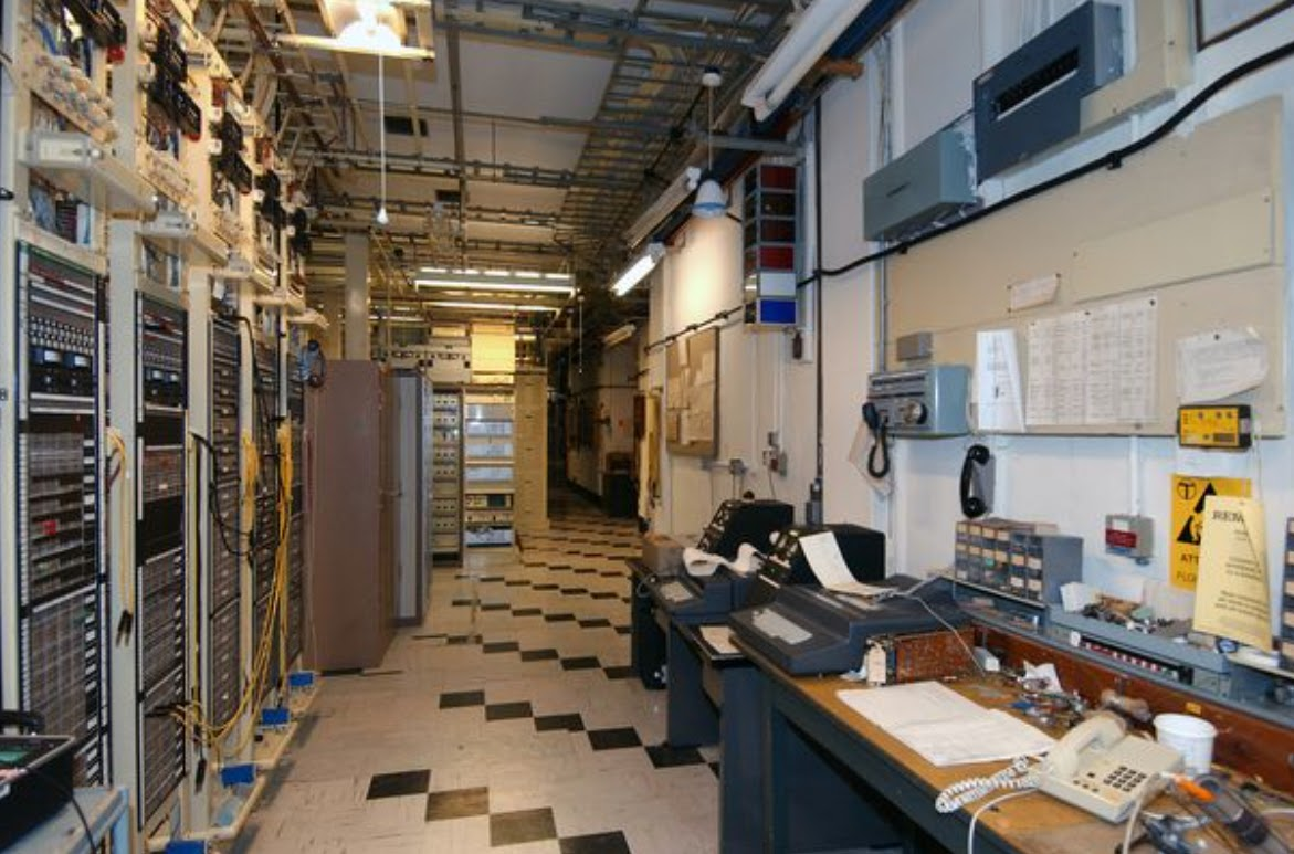 The control room in the Burlington, England bunker