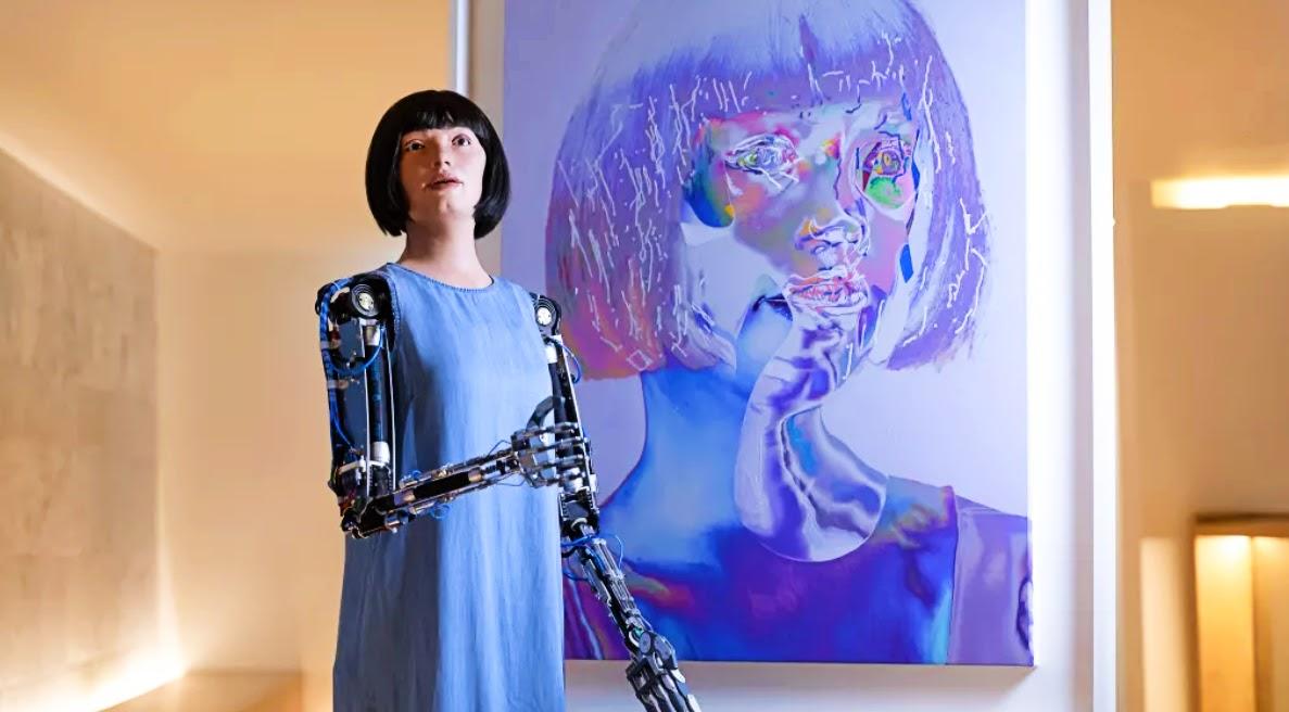 Robot self-portrait