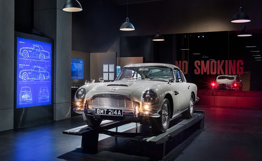 The GoldenEye DB5 at SPYSCAPE's New York HQ