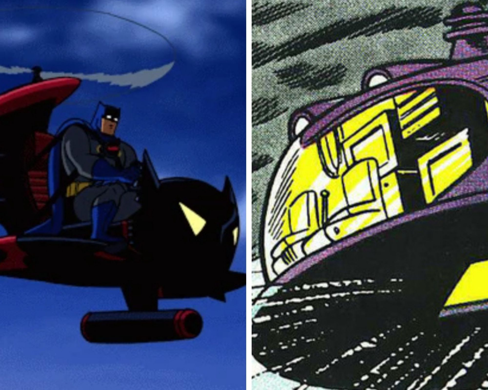 Flying Batcave and Whirly-Bat