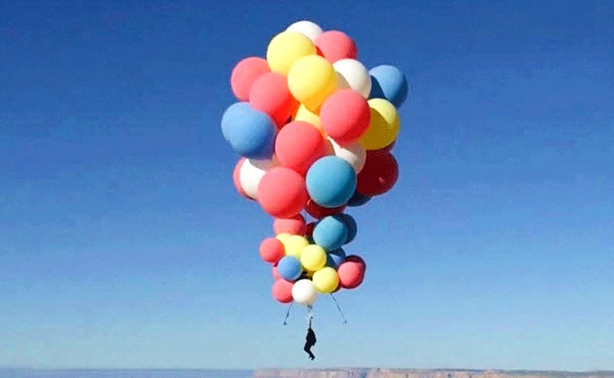 David Blaine, Balloon flight
