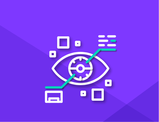 design and visualization icon with eye tracking graphic