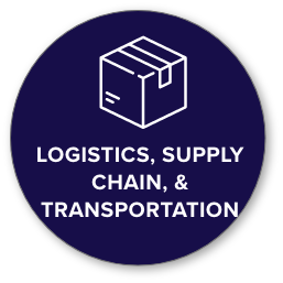logistics and transportation icon with shipping box