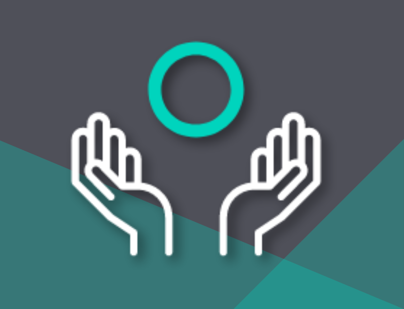 Remote assistance and guided work instructions icon with hands