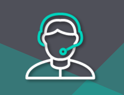 training icon with headset and end user