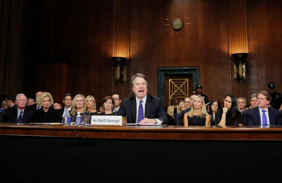 Brett Kavanaugh testifying before Senate Judiciary Committee on September 27 2018
