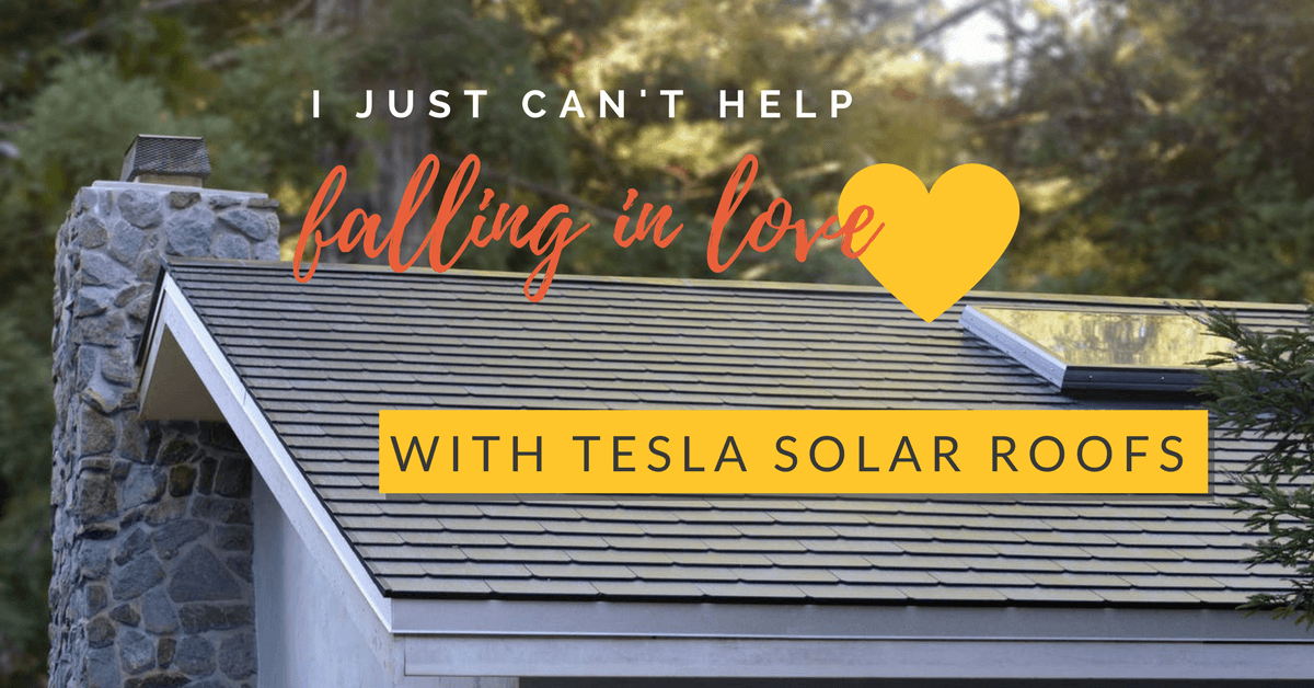 Image of a house with Tesla solar roof