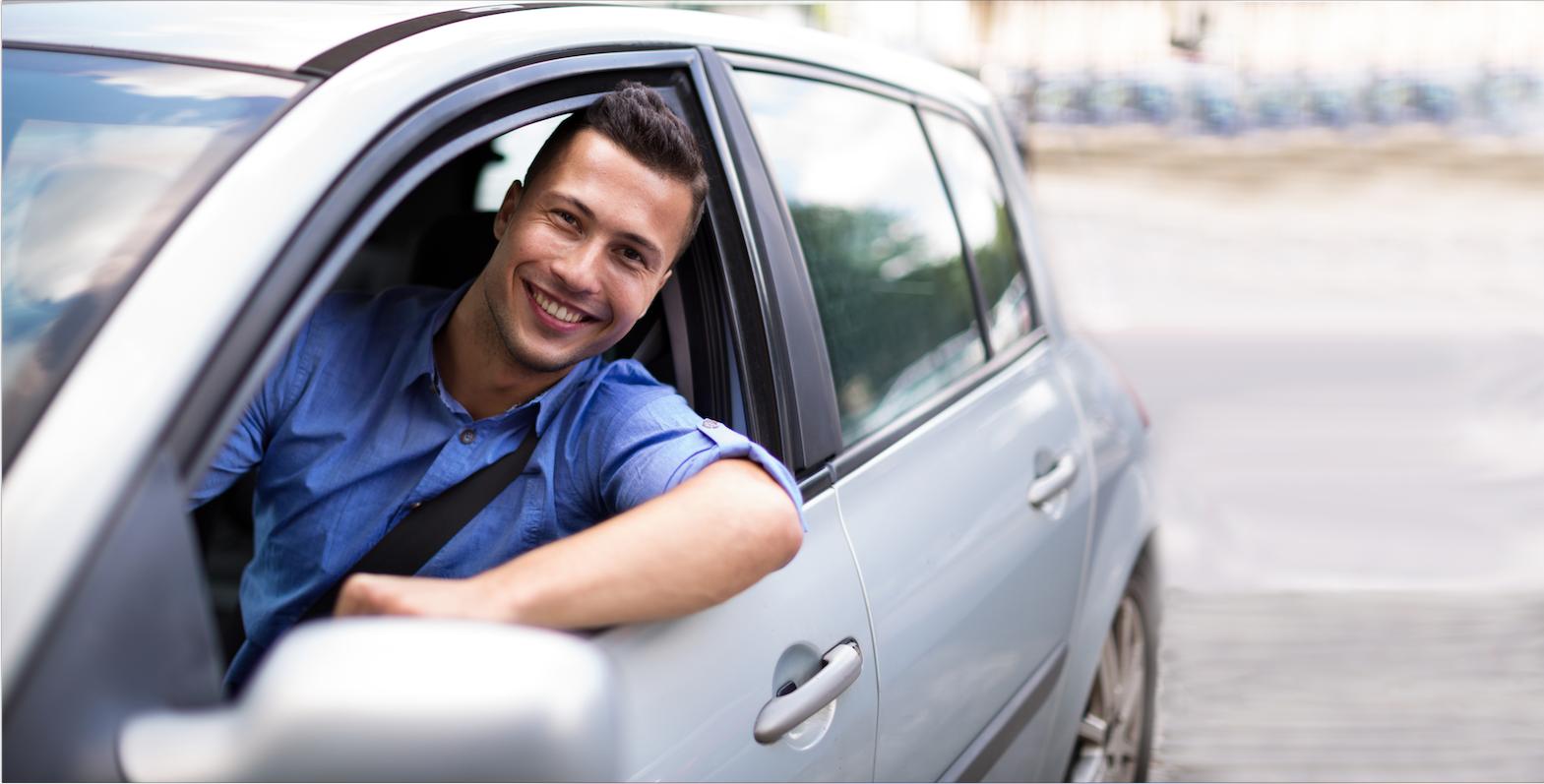 Driver in a Getaround® shared car