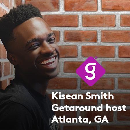 Kisean Smith, Getaround® power host since 2019.