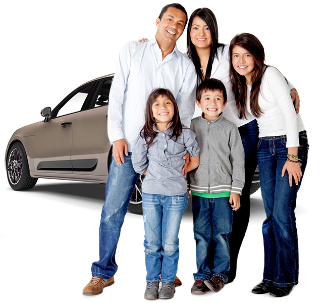 Family using Getaround® shared car for a vacation