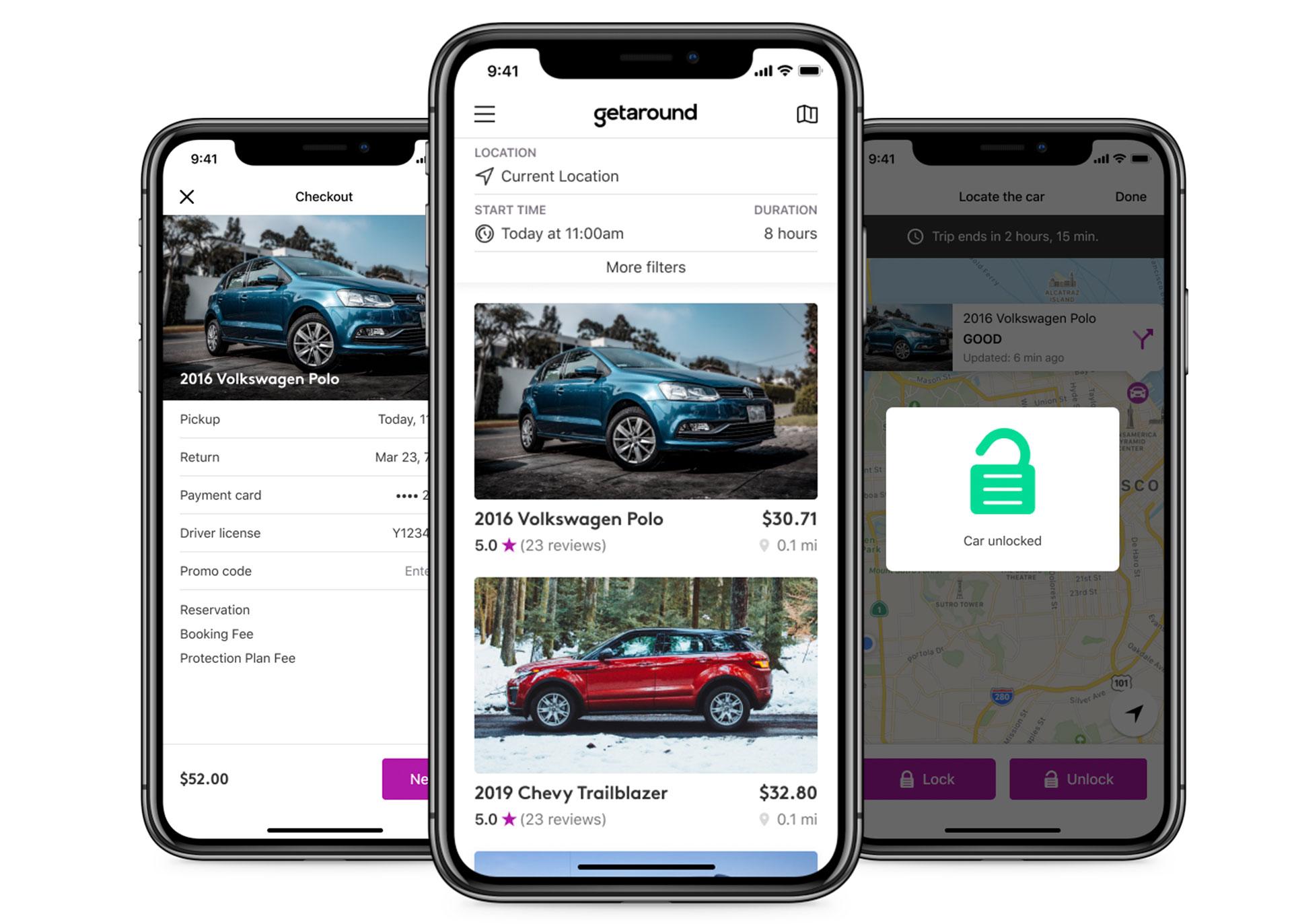 Find, book, and unlock car on Getaround®