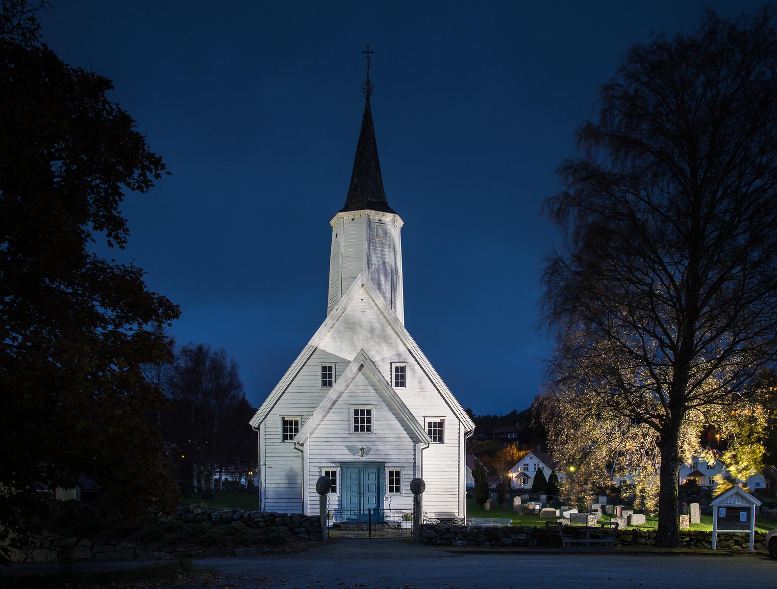 Arkivfoto frå Jelsa kyrkje. Skattkammeret Suldal. Foto: Jarle Lunde/Suldal Foto