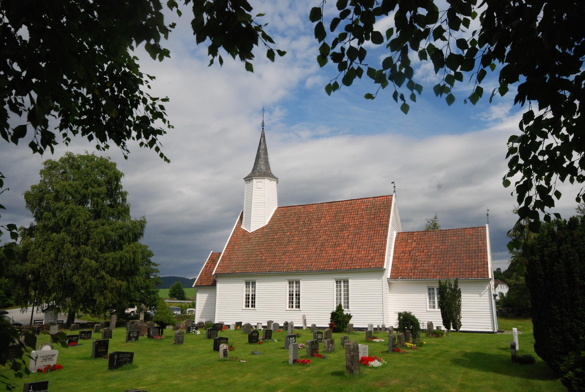 Arkivfoto frå Jelsa kyrkje. Skattkammeret Suldal. Foto: Rune Roalkvam