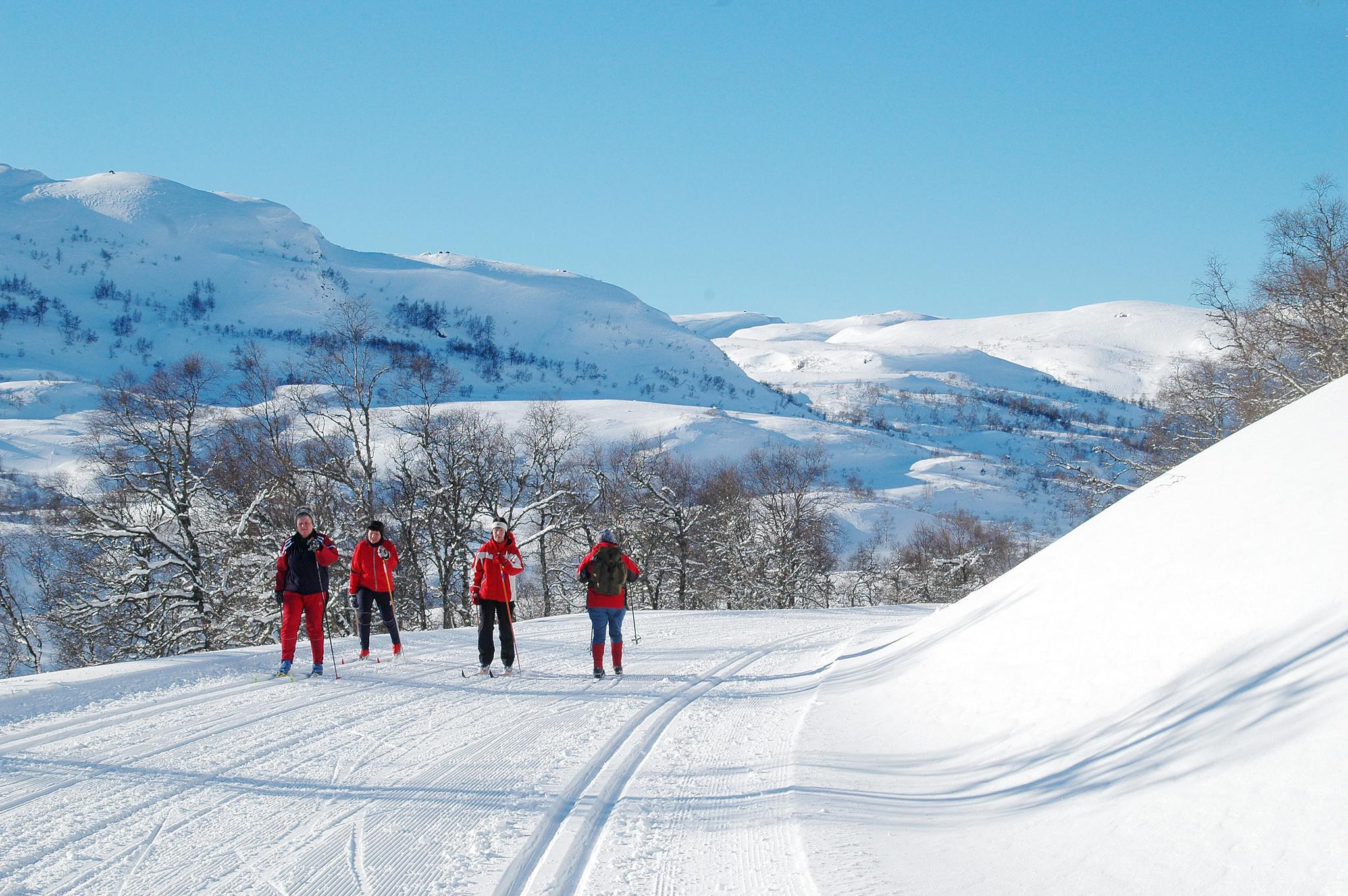 Menneske på skitur