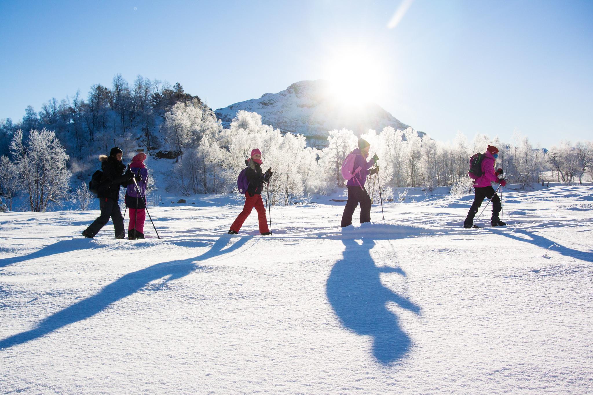 Menneske på skitur.