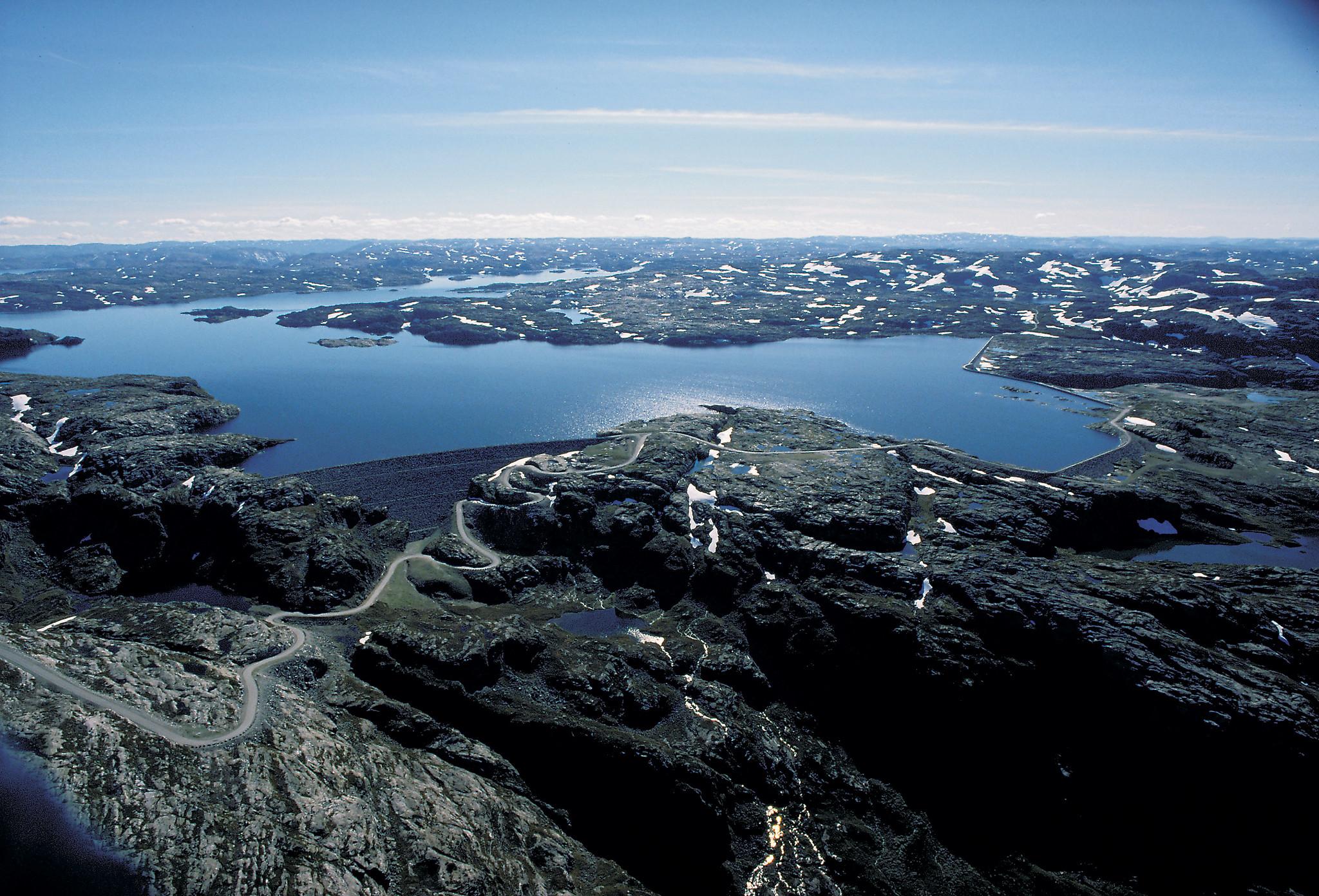 På tur inn til Blåsjø