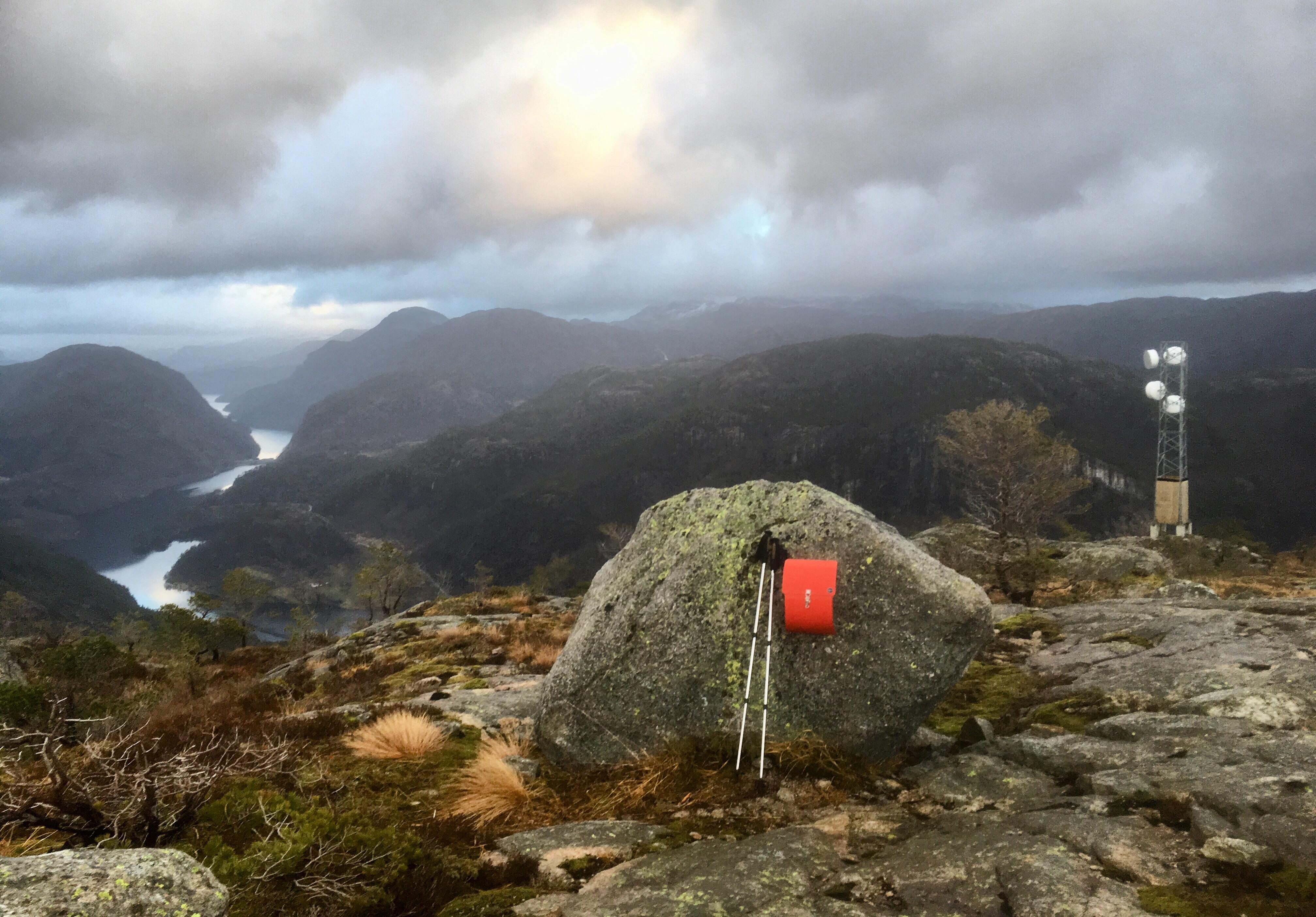 Utsikt frå fjelltopp
