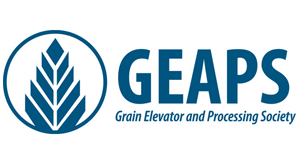 Logo for Grain Elevator and Processing Society (GEAPS)